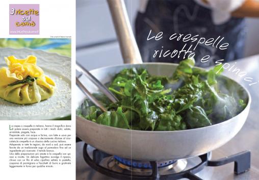 crespelle, fagottini, ricotta e spinaci